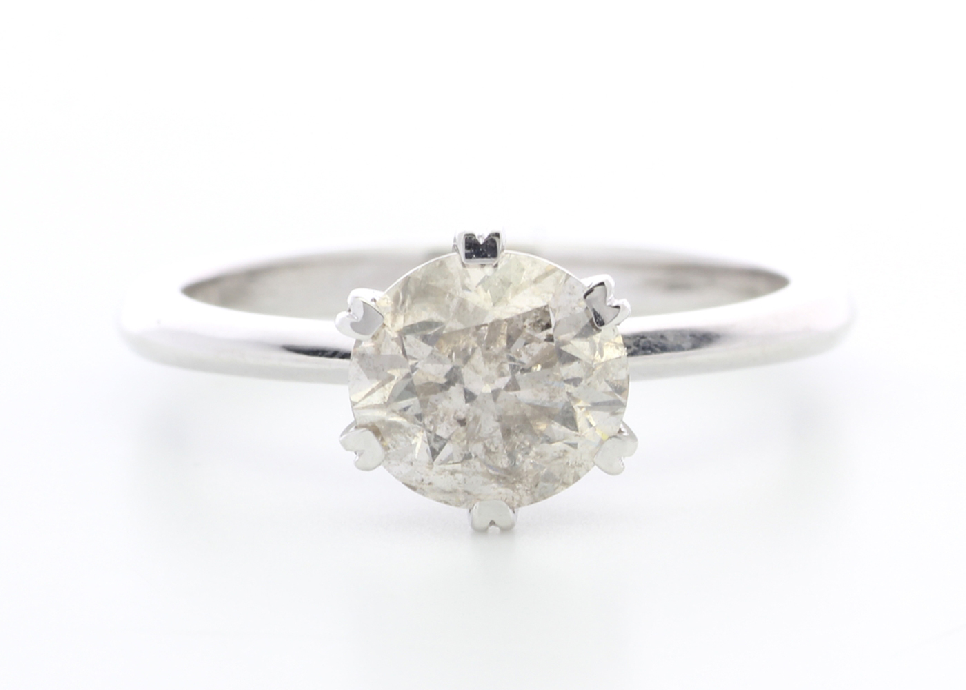 Lot 11 - 18ct White Gold Single Stone Claw Set Diamond Ring 1.70 Carats
