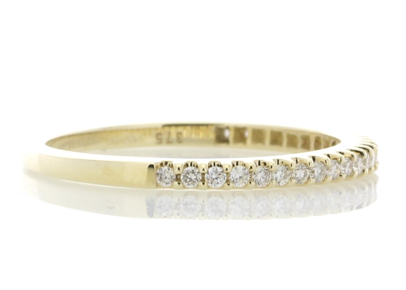 Lot 43 - 9ct Yellow Gold Diamond Half Eternity Ring 0.25 Carats