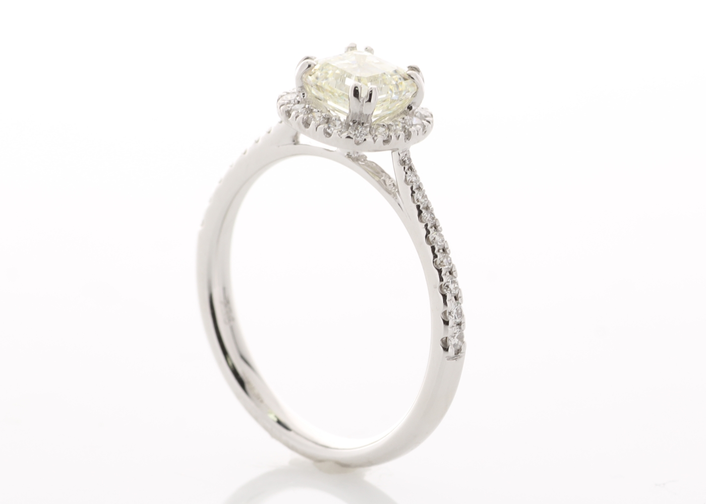 18ct White Gold Single Stone With Halo Setting Ring (1.01) 1.27 Carats - Image 5 of 6
