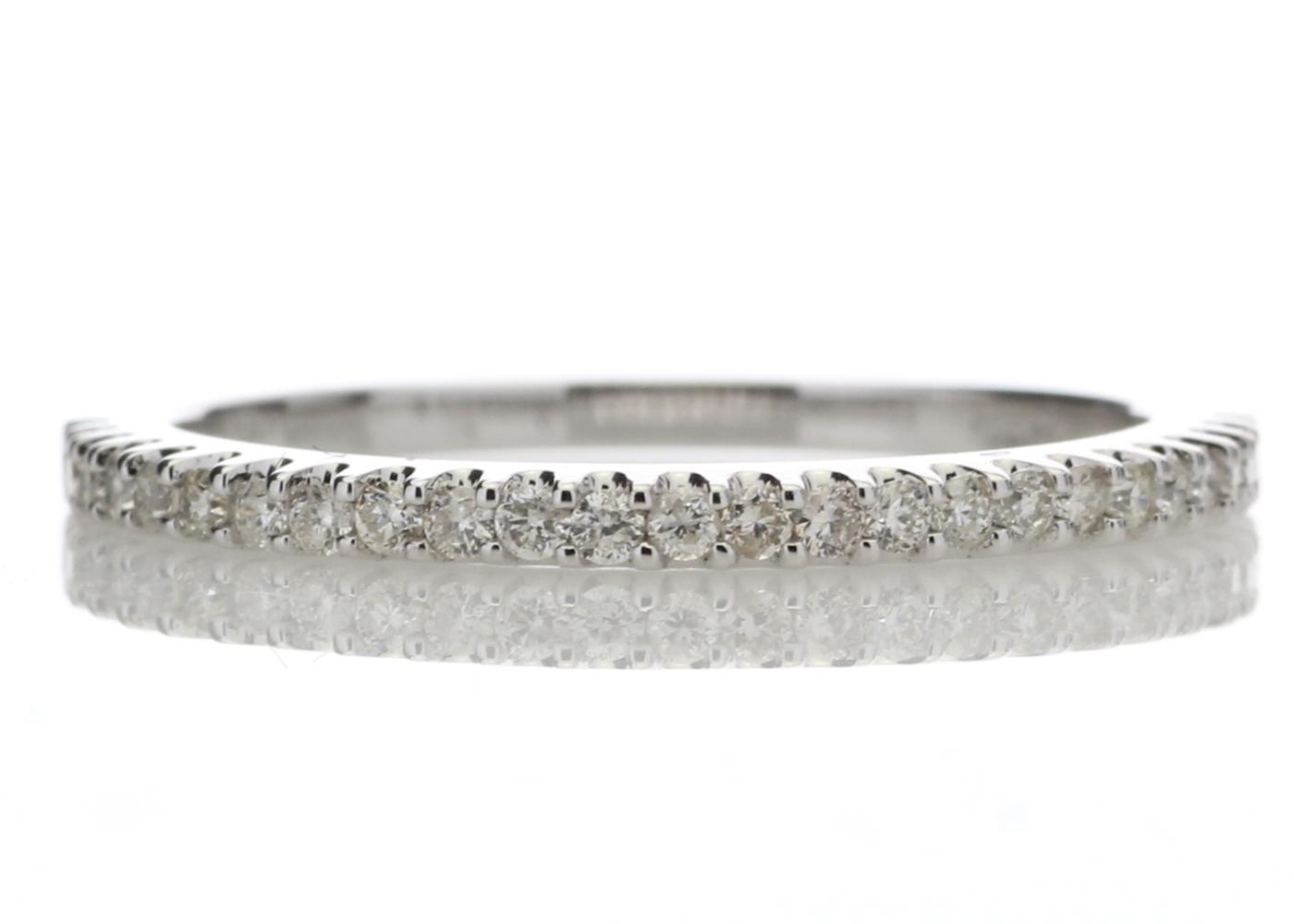 Lot 58 - 9ct White Gold Diamond Half Eternity Ring 0.25 Carats
