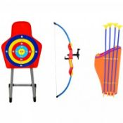 (LF62) Kids Toy Bow & Arrow Archery Target Set Outdoor Garden Game The archery set is perf...