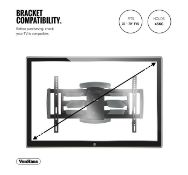 (AP222) 37-70 inch Cantilever TV bracket Please confirm your TV's VESA Mounting Dimensions a...