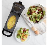 (OM46) 700W Omelette Maker Double-sided cooking power is also great for paninis, pancakes and ...