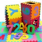 (LF61) 36pc Interlocking EVA Kids Floor Play Mat Alphabet and Numbers The interlocking play ...
