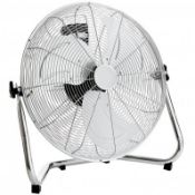 """(LF243) 18"""" Free Standing Chrome Gym Fan Stay cool this year with the 18"""" gym fan, The fan h..."""
