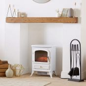 (V63) 1850W Portable Electric Stove Heater Beautifully designed freestanding small stove heate...