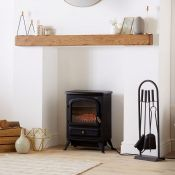(S44) 1850W Small Black Stove Heater Beautifully designed freestanding small stove heater with...