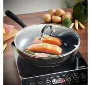 (MY47) 28cm Induction Sauté Pan Made from durable 3.5mm cast aluminium with easy clean non-st...