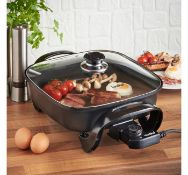 (OM57)30cm Square Multi Cooker Convenient and Easy to use cooker that frys, Sautés, Braises, ...