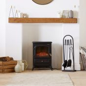 (V108) 1850W Small Black Stove Heater Beautifully designed freestanding small stove heater wit...