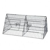 "(LF13) 48"" Metal Triangle Rabbit Guinea Pig Pet Hutch Run Cage Playpen The triangle hutch is..."