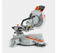 (MY65) 1500W Sliding Mitre Saw Effortlessly cut through hard wood, laminates and plastics Fea...