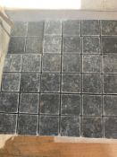 200 x Black Tumbled Travertine Mosaic 4.8x4.8cm