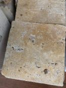 150 x Tumbled Travertine Mosaic 20x20cm
