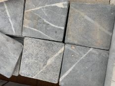 300 x Black Tumbled Natural Stone tiles 10x10cm