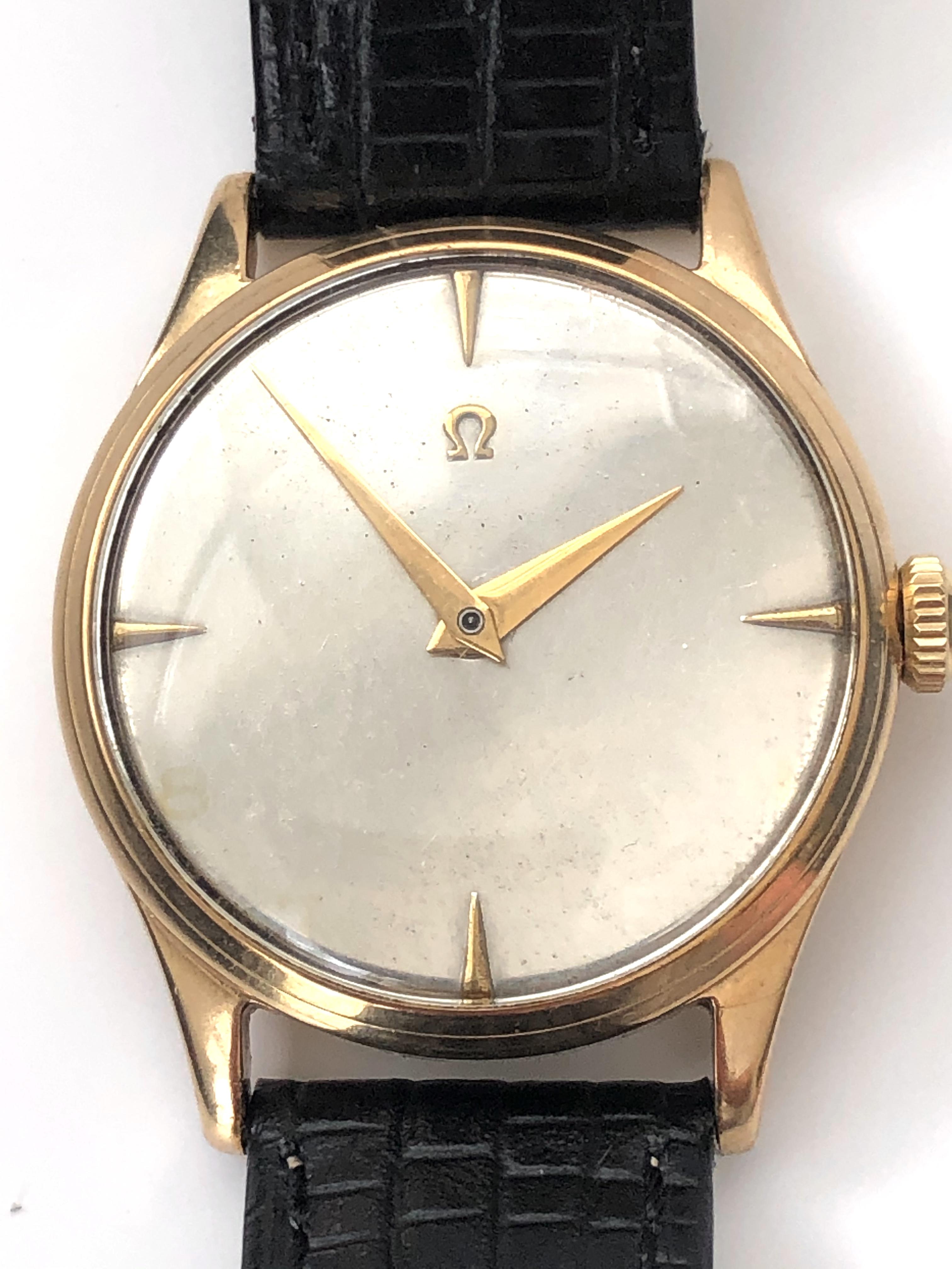Lot 32 - Omega gentlemens 9KT Gold Case Hallmarked 1953
