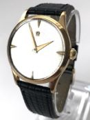 Omega gentlemens 9KT Gold Case Hallmarked 1953