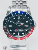 Very Rare 1960 Rolex GMT 1675 'Pepsi' on Jubilee bracelet.
