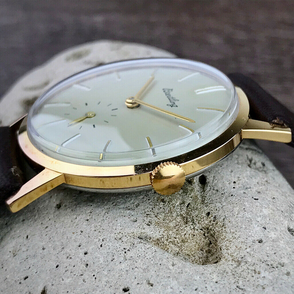 Lot 42 - Iconic Breitling 1950's vintage 18K Gold Plated Watch
