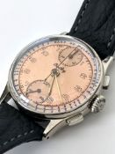 Rare Vintage Breitling Chronograph Watch Circa 1940's