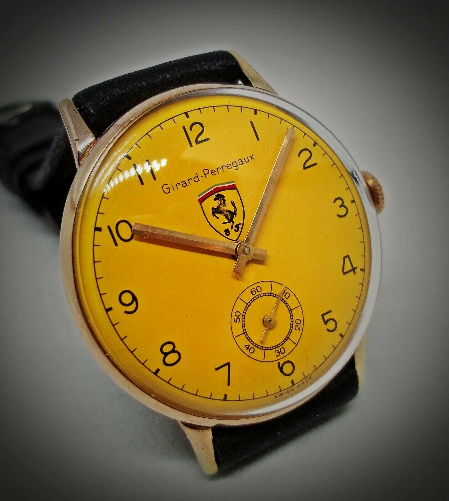 Lot 22 - Rare Vintage Girard Perregaux Ferrari ManÕs Watch