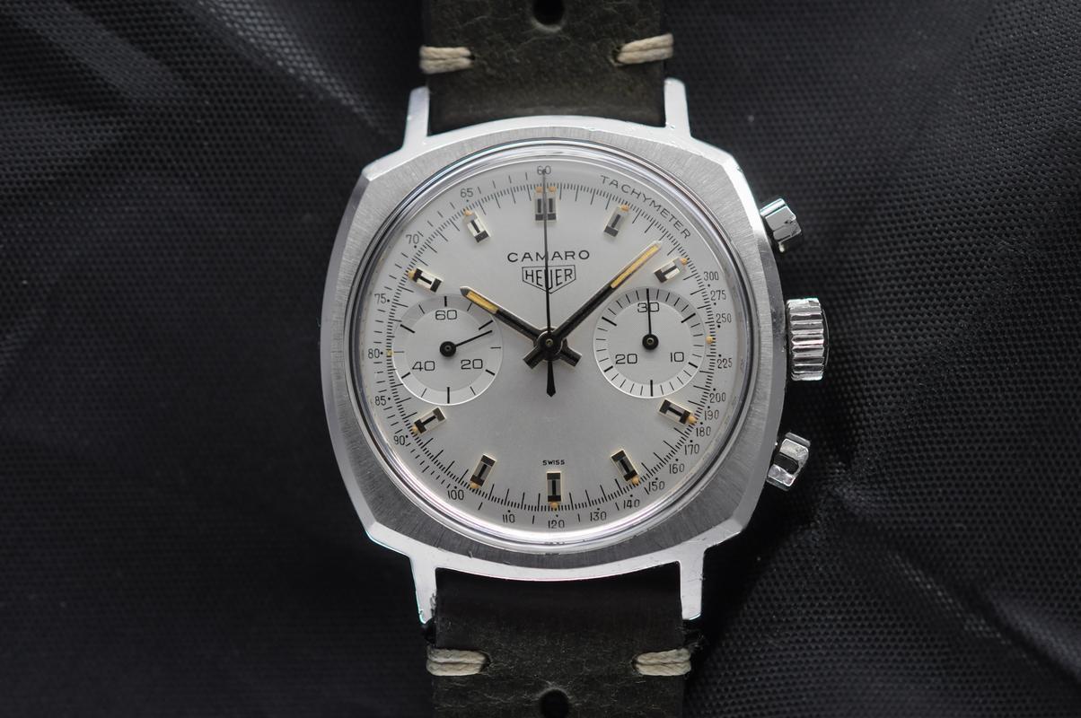 Lot 44 - Excellent Condition Vintage Classic Heuer Camaro Ref. 7743 Silver Dial Valjoux 7730