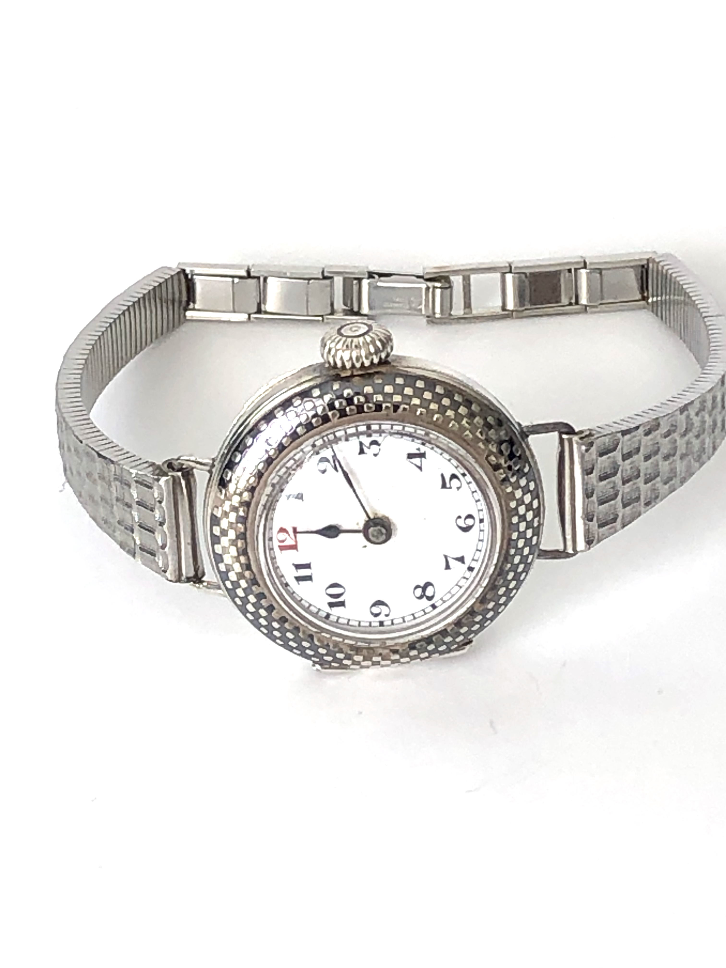 Lot 24 - Stunning and rare Vintage Ladies Rolex watch with 21K White Gold case