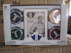 100. pcs Brand new Sealed Marvel Poker Chip and Playing Card Gift Set - Brand new - original RRP £9.
