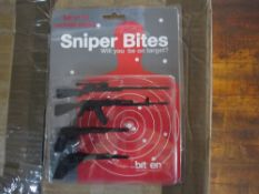 Appx 500pcs Sniper Bites brand new and sealed novelty cocktail sticks - original RRP £4.99 - appx 5