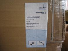 50pcs - Brand new Stainless Steel / Chrome - P design croydex Shower enclosure / curtain rod -