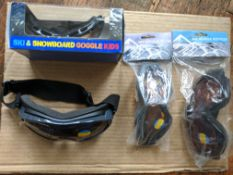 100pcs - Assorted Style and design Ski Goggles - assorted packaging / loose / poly bag - brand new -