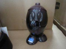 250pcs - Brand new sugar pot clear / black- novelty design , new and sealed - design led Giftware -