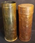 Vintage Military Shell Case and Copper Container
