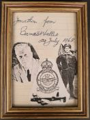 WWII RAF Military Dam Busters Barnes Wallis Autograph 29th July 1968