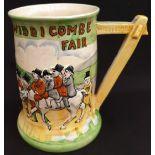 Antique Crown Devon Fielding Musical Tankard Widdecombe Fair A/F