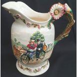 Antique Crown Devon Fielding Musical Water Jug Daisy Bell