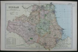 Antique Map of Durham 1899 G. W Bacon & Co.