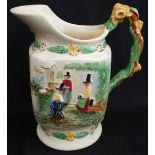 Antique Crown Devon Fielding Welsh Musical Water Jug Llewyn On