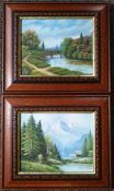 Art 2 x Oil Paintings Country Scenes Both signed