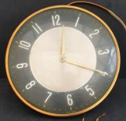 Vintage Wall Mounted Electric Metamec Clock c1950's