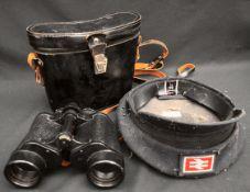 Vintage British Rail Cap & Russian Binoculars