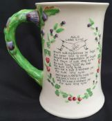 Antique Crown Devon Fielding Musical Tankard Auld Lang Syne