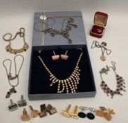 Costume Jewellery Assorted Items Includes Cuff Links
