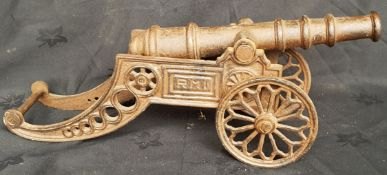 Vintage Cast Metal Model Military Cannon