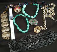 Vintage Costume Jewellery Includes wrist Watch
