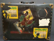 Metal & Wood Suitcase George Tiemann & Co New York