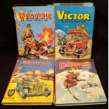 Collectable Boys Annuals 7 x Victor 1 x Action Annuals c1970's
