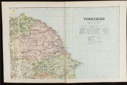 Antique Map Yorkshire North East 1899 G. W Bacon & Co.