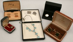 Parcel of Boxed Vintage Costume Jewellery Includes Cuff Links