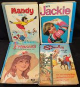 Vintage 9 x Girls Annuals Sindy Mandy June Bunty etc. c1970's